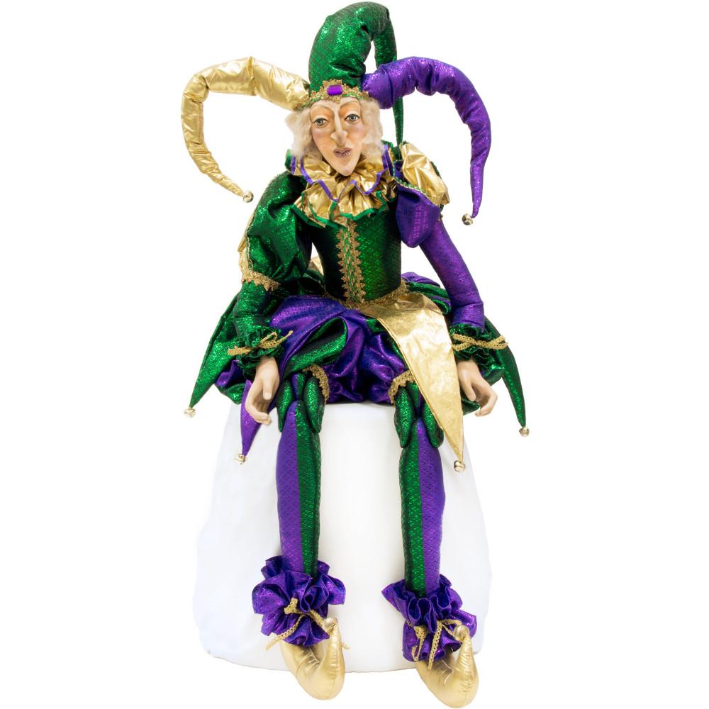 """Life-Sized Mardi Gras Jester Doll (55"""") [XN4012 ..."""