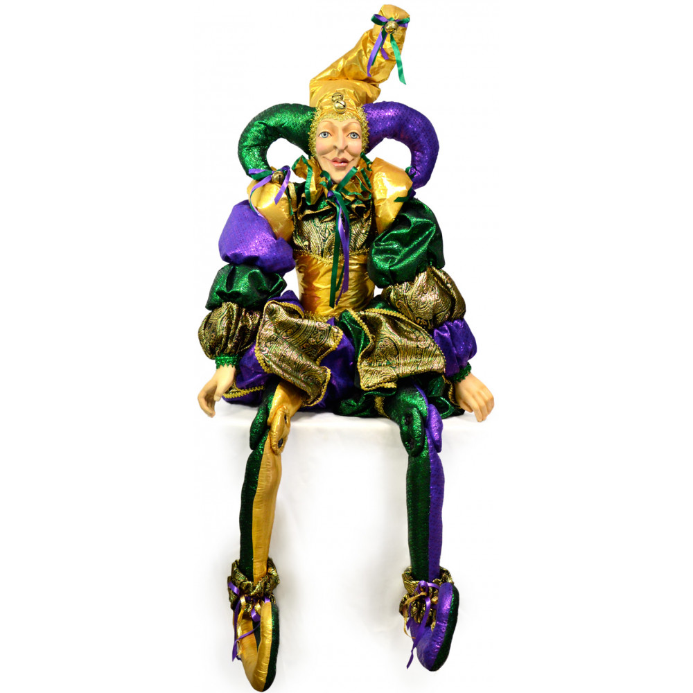 Whimsical Mardi Gras Jester Doll: Life-Sized (55 ...