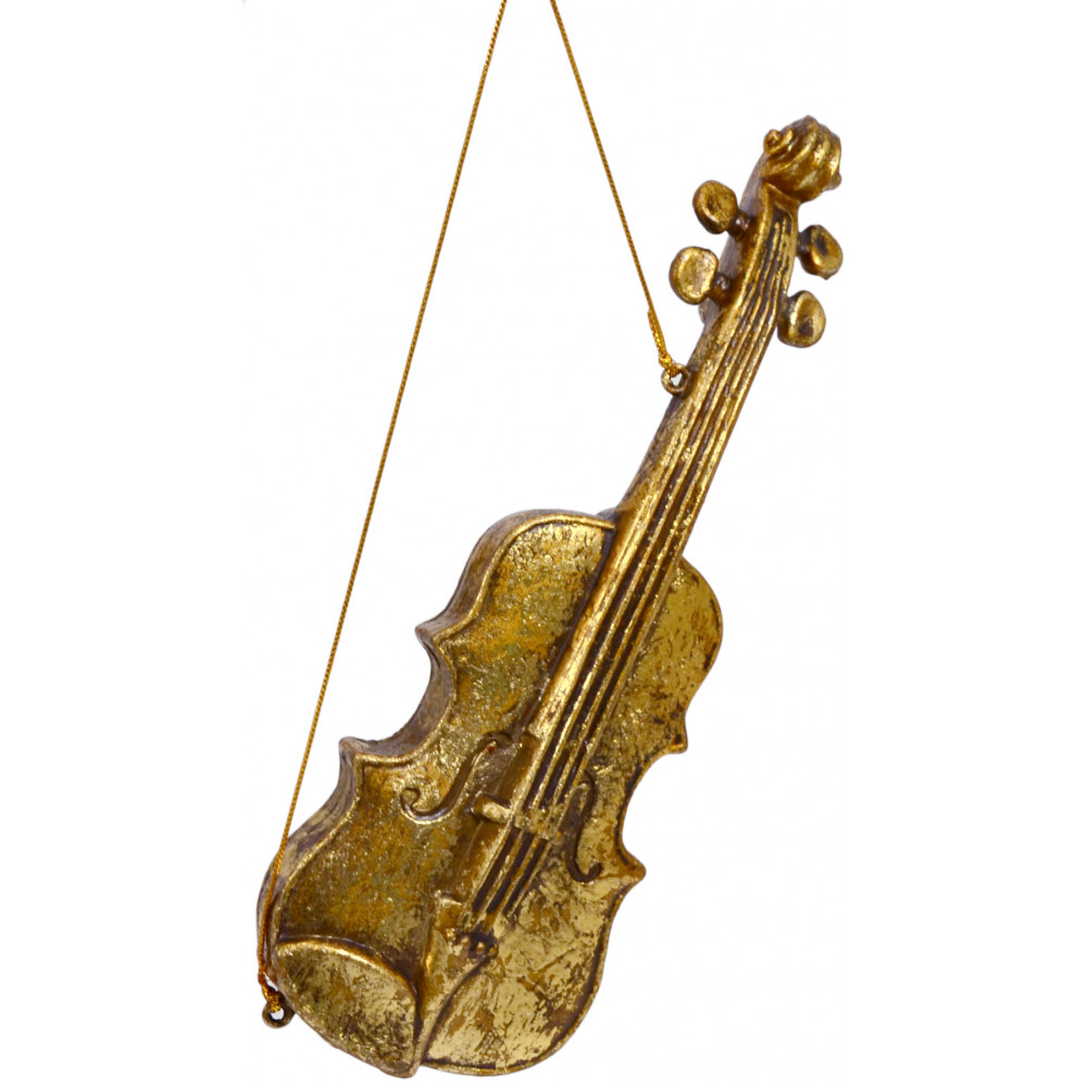 Musical instruments ornaments - Gold Music Instrument Ornaments Set Of 3