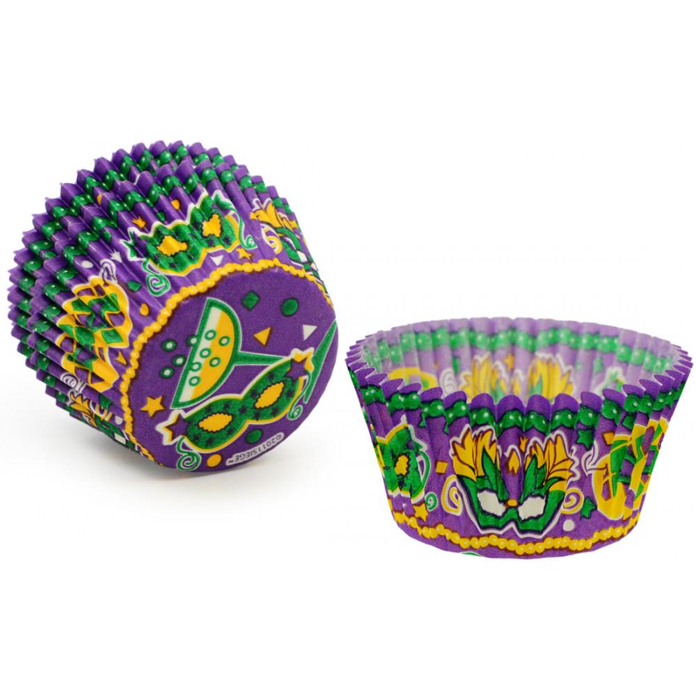 Mardi Gras Carnival Mask Cupcake Baking Cups 32