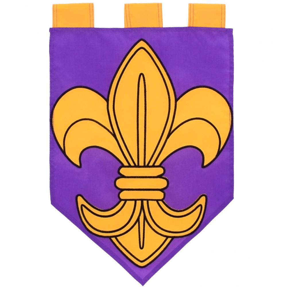 Purple U0026 Gold Pennant Fleur De Lis Garden Flag