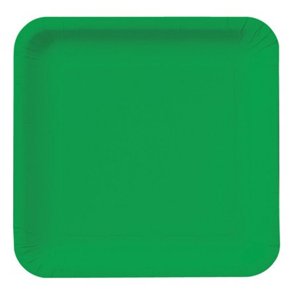 9 Square Dinner Plates Emerald Green 18 463261
