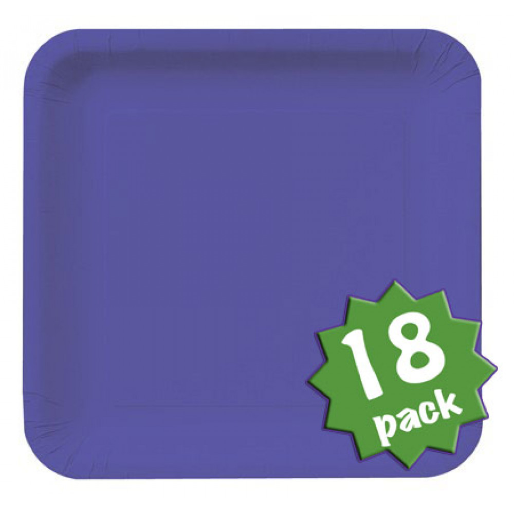 9 Square Dinner Plates Purple 18 463268