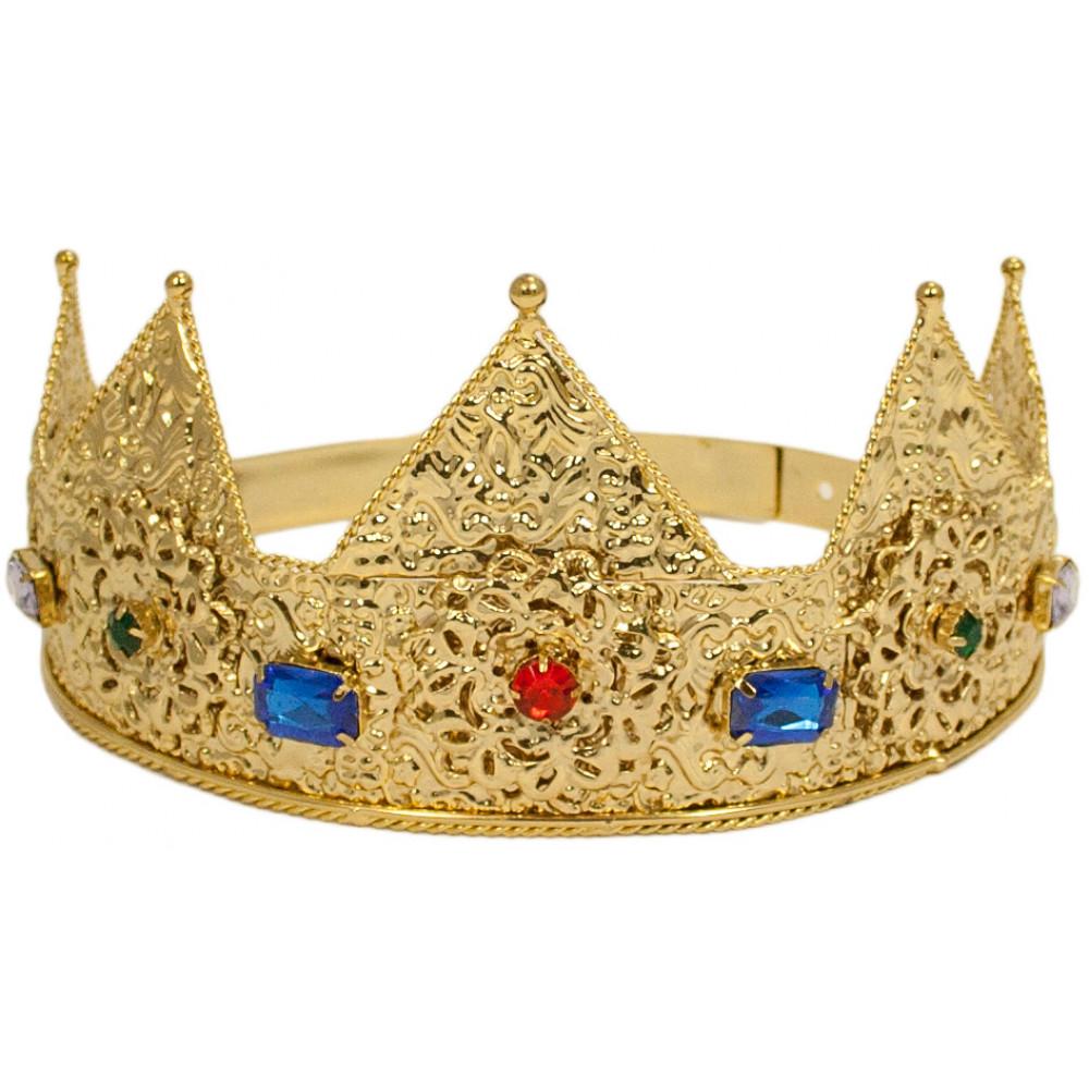 Ladies Gold Crown Tiara [] - MardiGrasOutlet.com