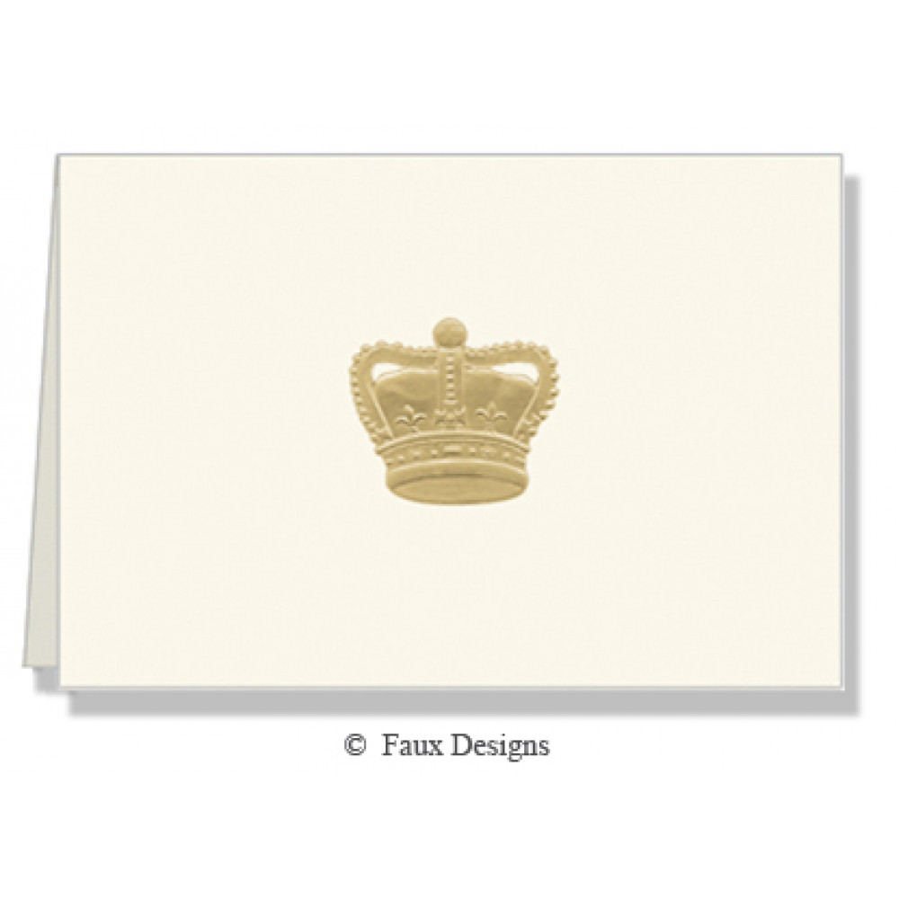 Gold Crown Folded Notes Note Cards 10