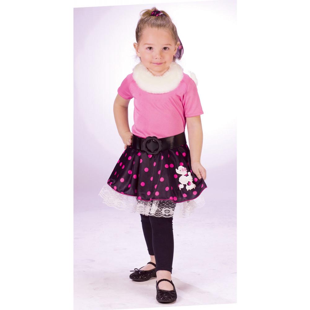 Toddler 50u0027s Poodle Dress Costume (Size L)  sc 1 st  Mardi Gras Outlet & Toddler 50u0027s Poodle Dress Costume (Size L) [110281-L ...