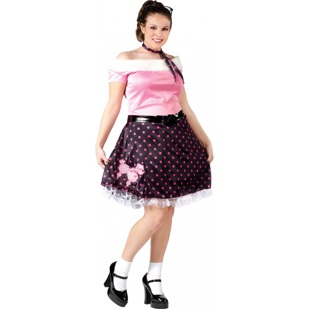 Plus Size 50\'s Poodle Dress Costume