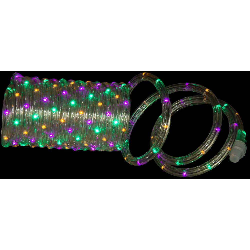 Led Mardi Gras String Lights : LED Mardi Gras Rope Lights [08189] - MardiGrasOutlet.com