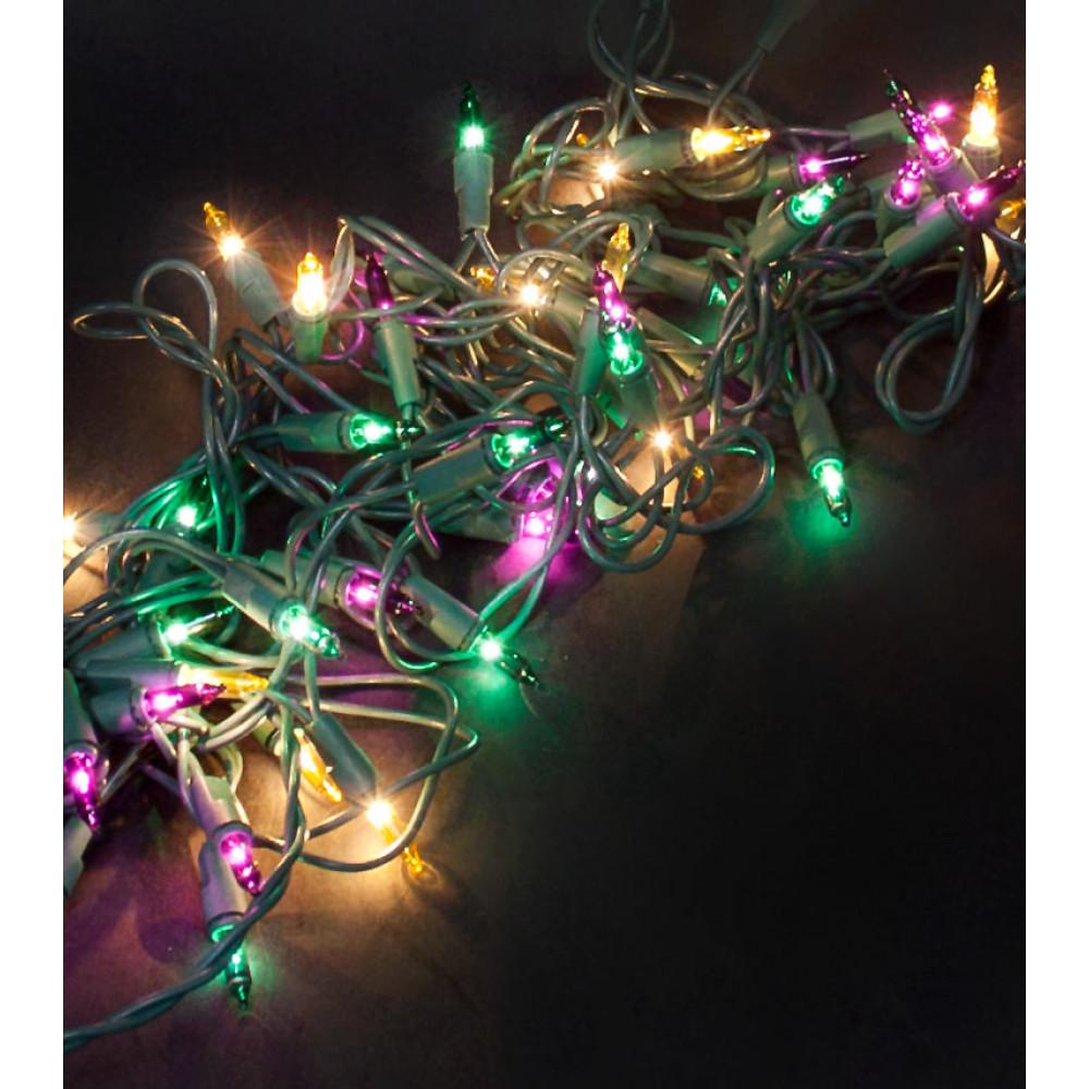 Mini Mardi Gras Lights 50 Light U050mge