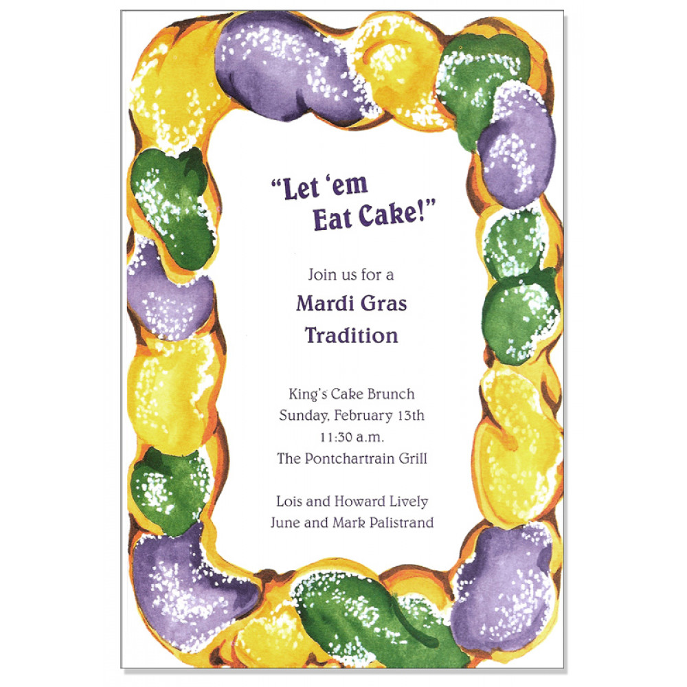 King Cake Surprise Invitation [] - MardiGrasOutlet.com