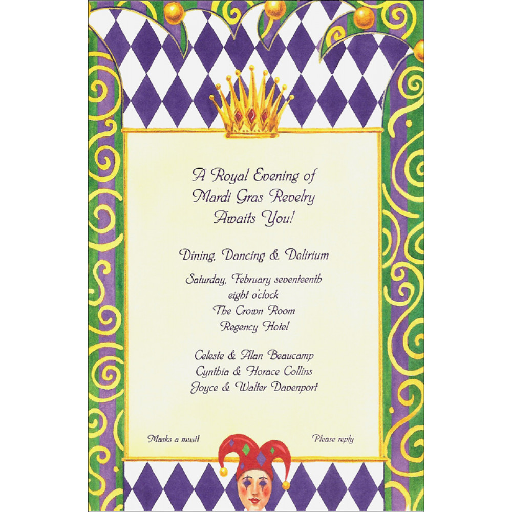 Royal Mardi Gras Invitation MardiGrasOutletcom
