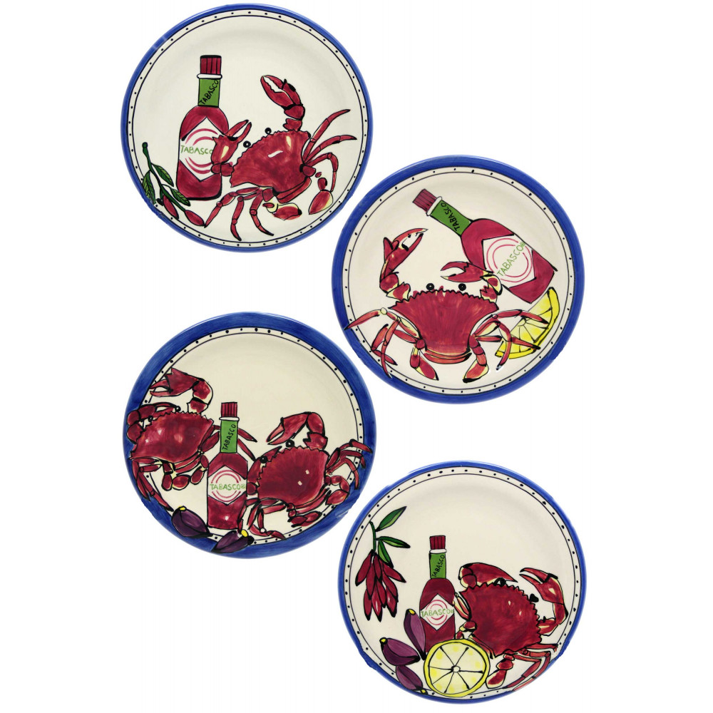 Tabasco Seafood Buffet 8  Salad Plates (Set/4 Assorted)  sc 1 st  Mardi Gras Outlet & Tabasco Seafood Buffet 8