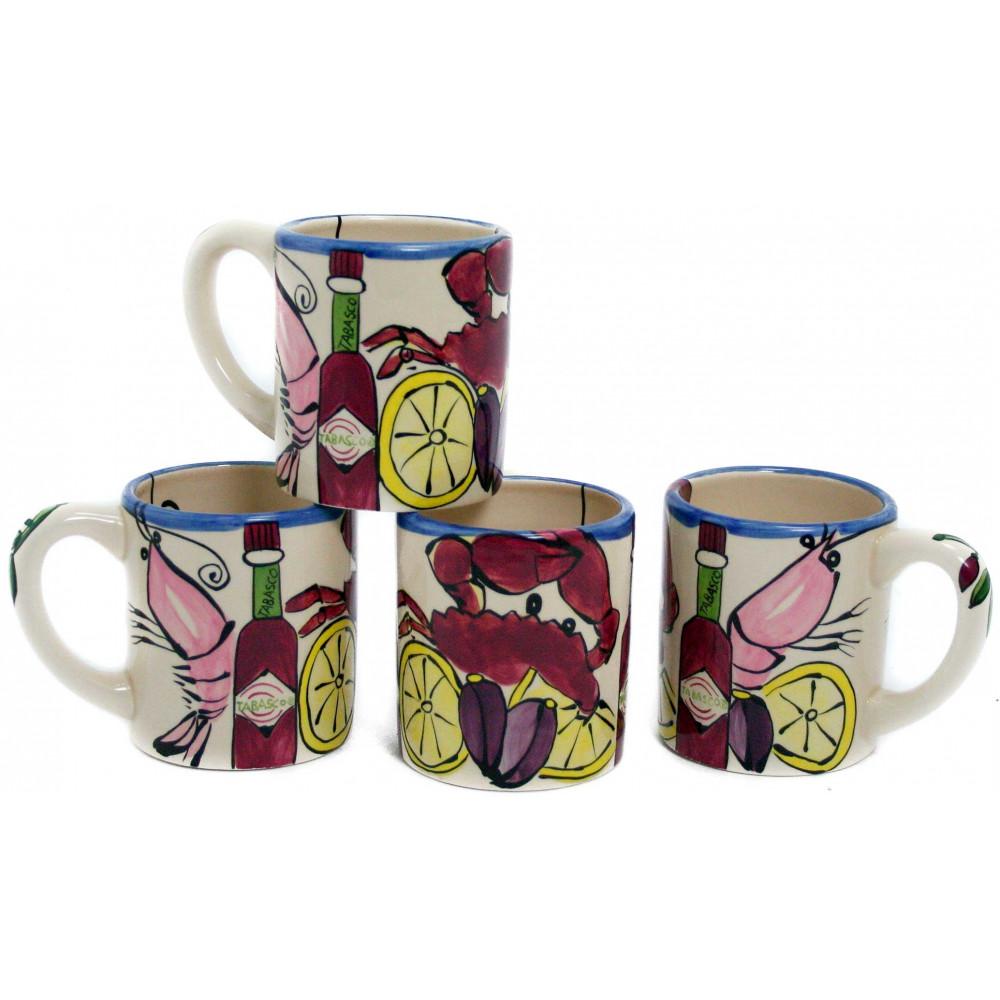 Tabasco Seafood Buffet Coffee Mugs (Set of 4 ...