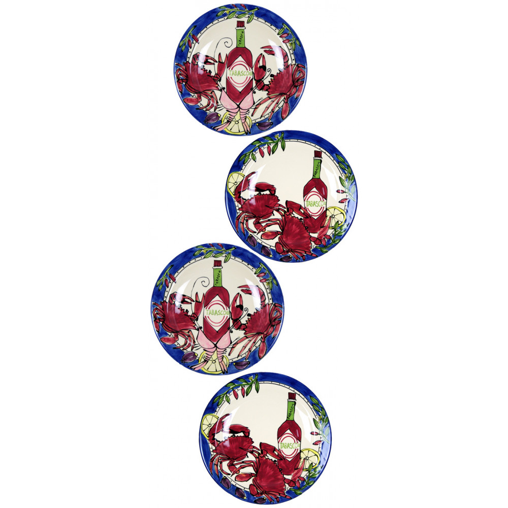 Tabasco Seafood Buffet 12  Charger Plate (Set/4)  sc 1 st  Mardi Gras Outlet & Tabasco Seafood Buffet 12