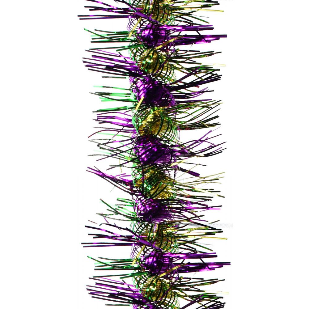 Metallic spiral tinsel garland mardigrasoutlet