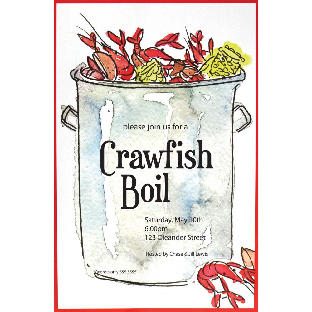 Crawfish Boiling Pot Invitation MardiGrasOutletcom