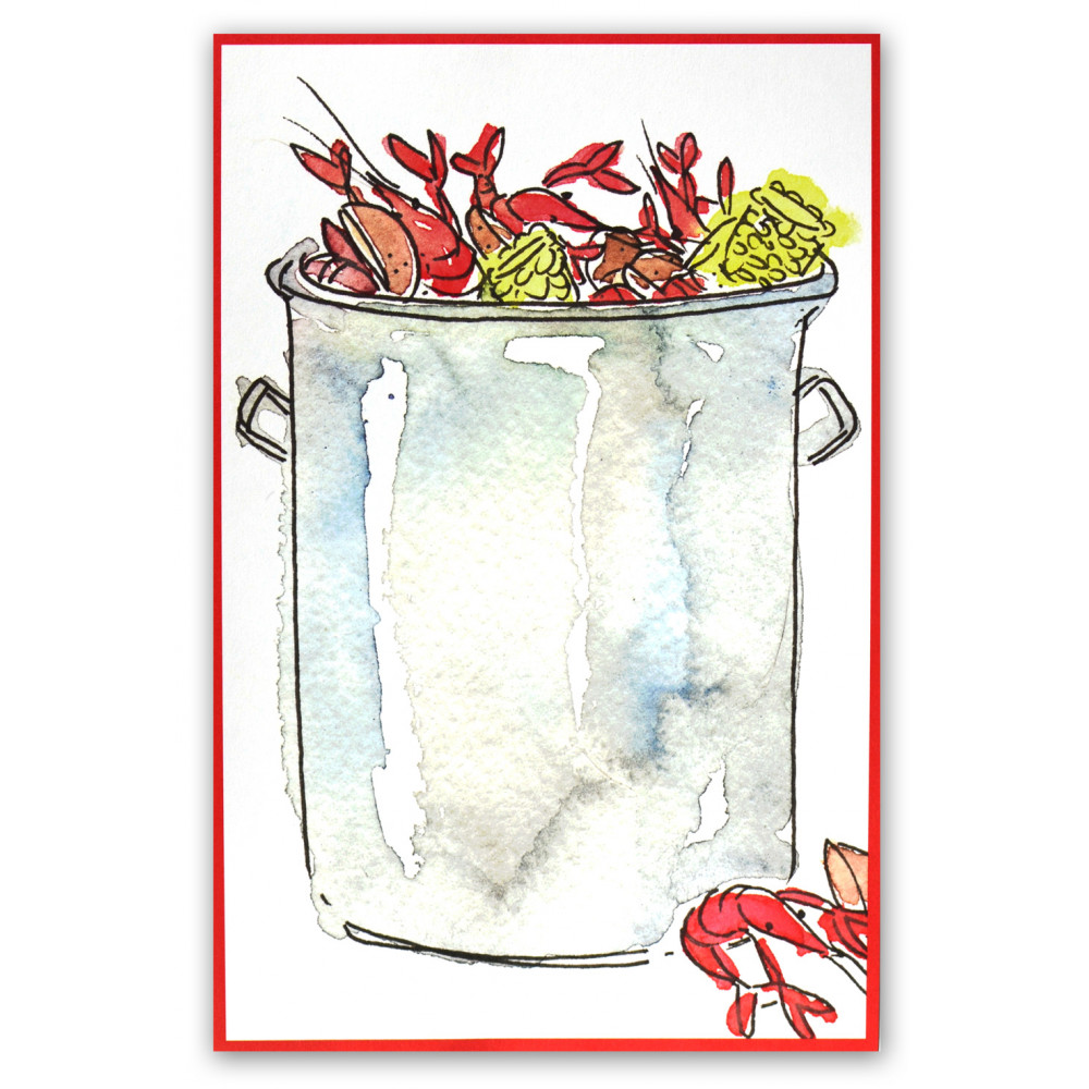 photograph relating to Crawfish Boil Invitations Free Printable identified as Crawfish Boiling Pot Invitation