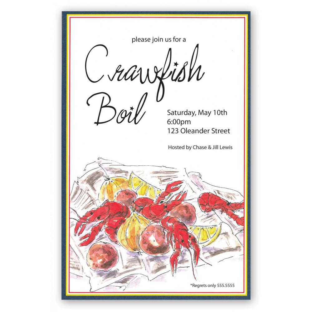 Crawfish Spread Invitation MardiGrasOutletcom