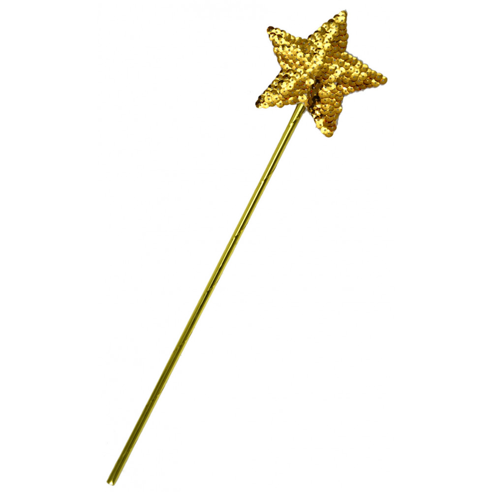 sequin star wand gold 16433glns