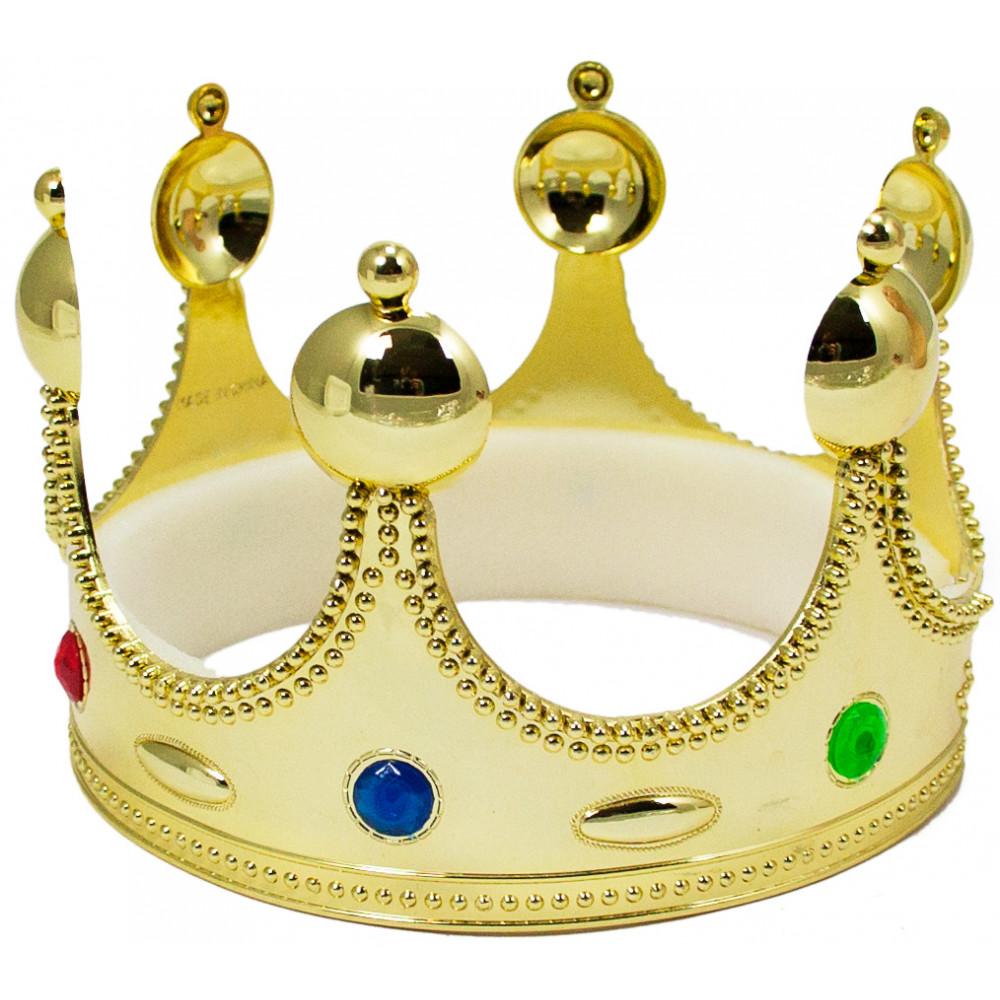 Child\'s Plastic King Crown [23593GLAO] - MardiGrasOutlet.com