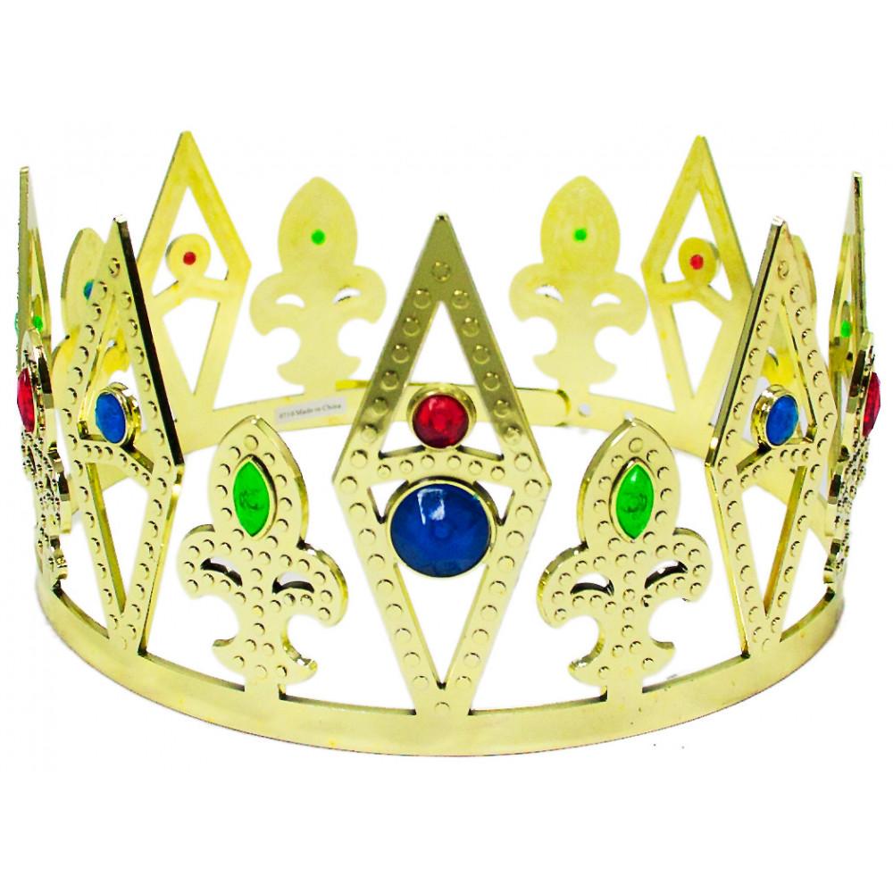 Plastic Fleur de Lis King\'s Crown: Gold [23595GLAO ...