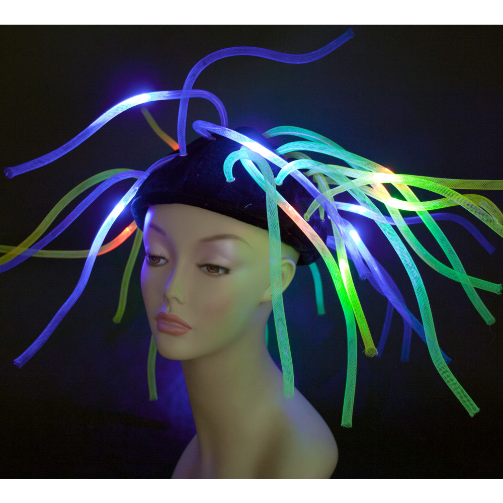 Light-Up Neon Mesh Tubes Hat  23702ACAJ  - MardiGrasOutlet.com 5992b66d704