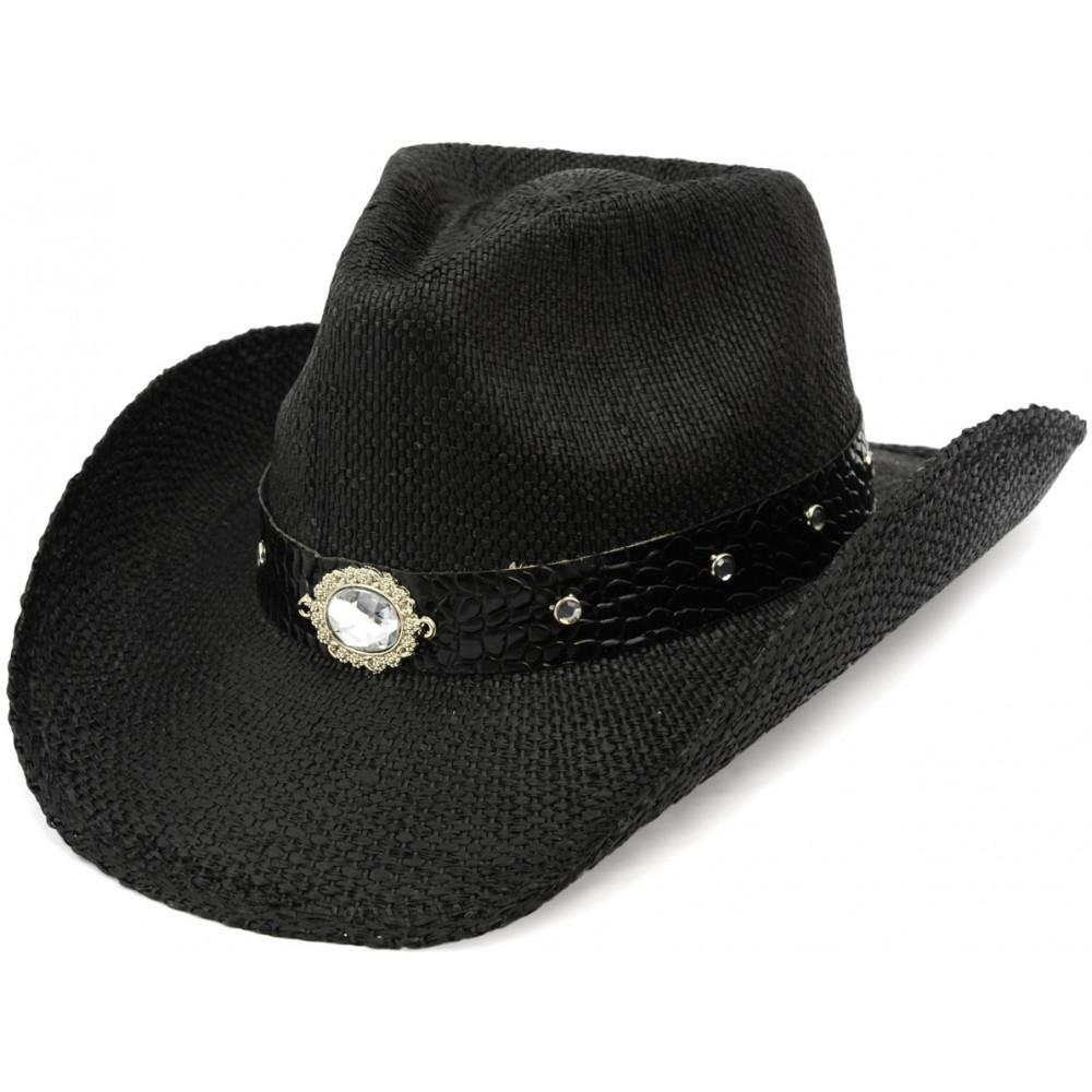 Rhinestone Cowboy Hat  Black  23943-BLK  - MardiGrasOutlet.com 218a8f0e4ea