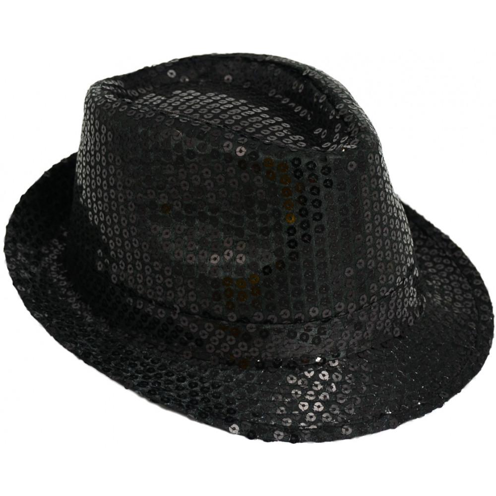Sequin Fedora  Black  24100BKAO  - MardiGrasOutlet.com dfb67d4601d