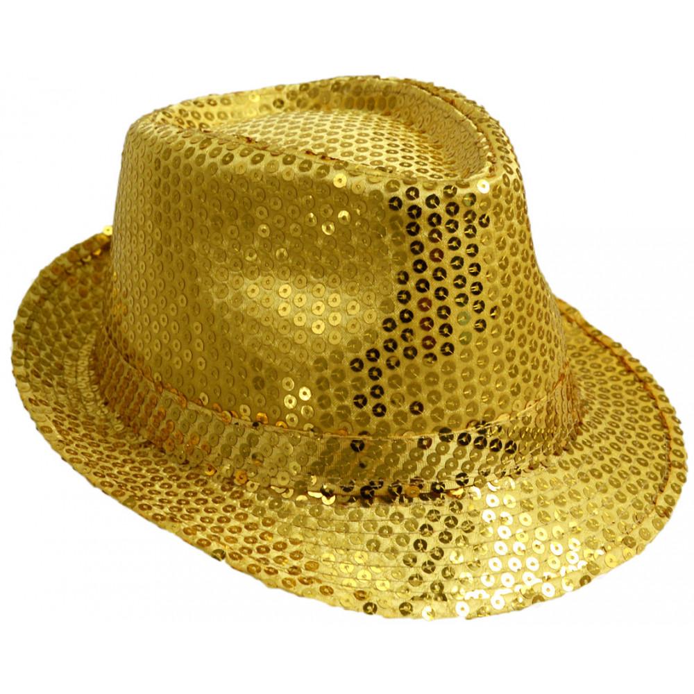 Sequin Fedora  Gold  24100GLAO  - MardiGrasOutlet.com c3ad6ac2814