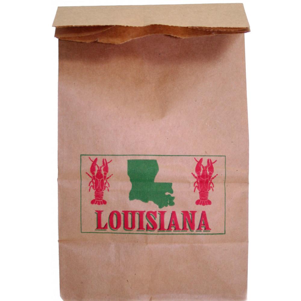 Louisiana Crawfish Kraft Paper Bag Small
