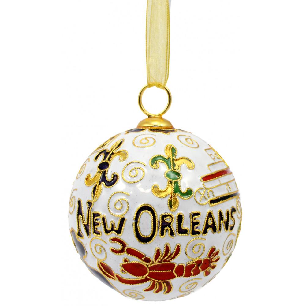 New Orleans Christmas Ornaments.Cloisonne Ornament New Orleans