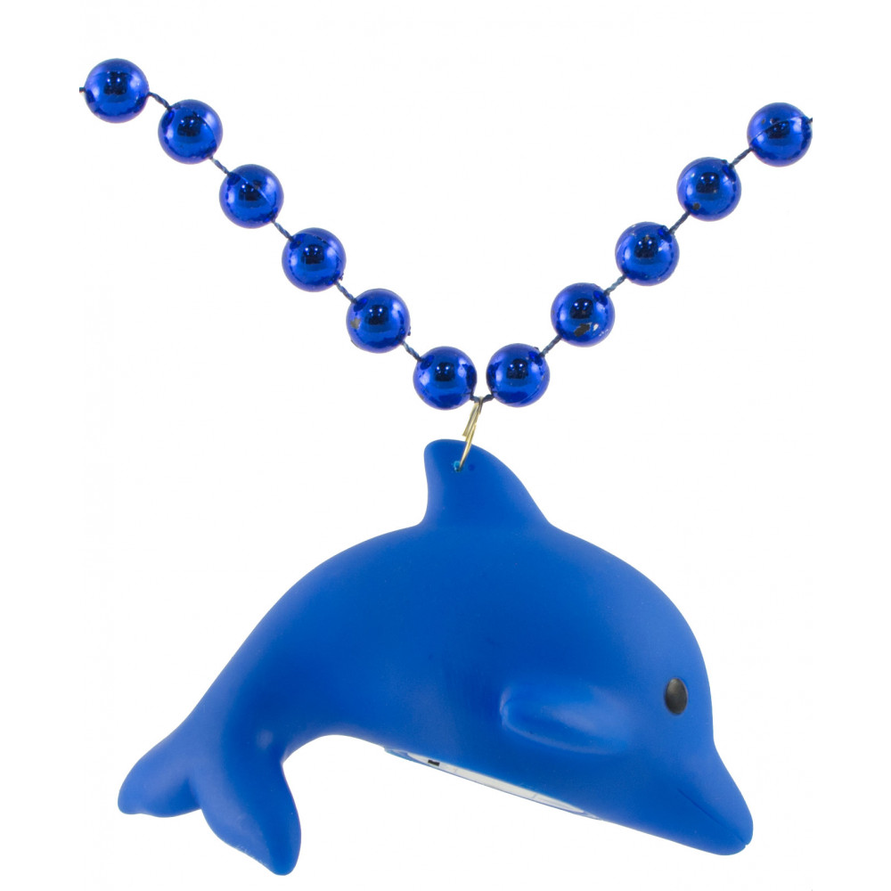 Light-Up Dolphin Necklace On Royal Blue Beads [LMP006-1233 ...