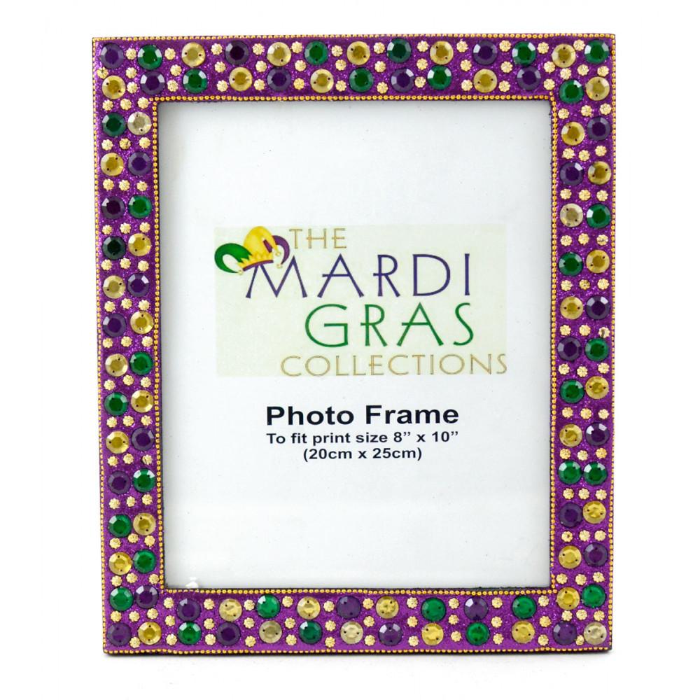 Purple Jeweled Mardi Gras Photo Frame (8 x 10) [] - MardiGrasOutlet.com