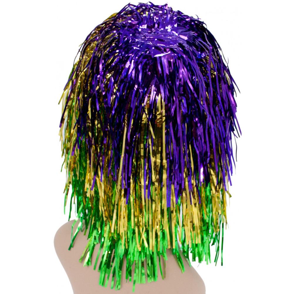 Mardi gras tinsel wig mardigrasoutlet mardi gras tinsel wig arubaitofo Choice Image