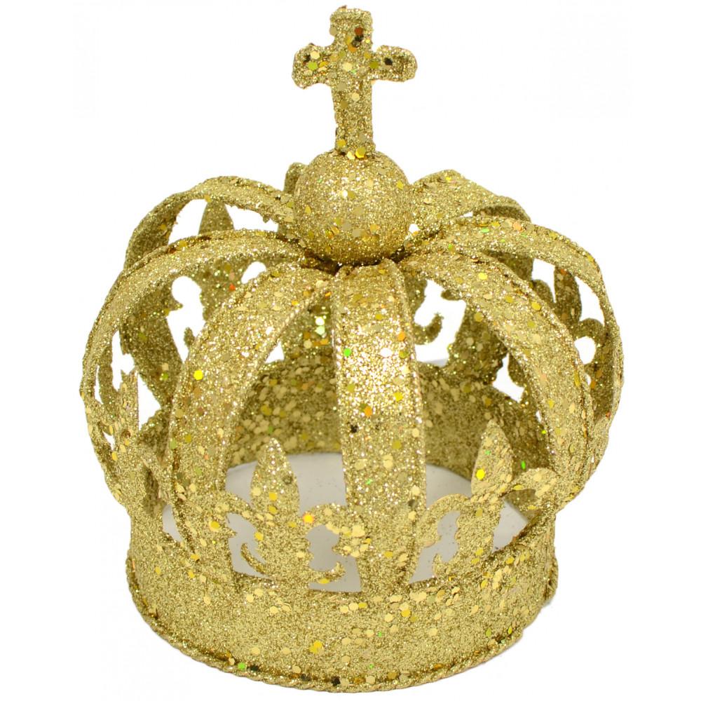 Gold Glitter Crown Centerpiece: Small [] - MardiGrasOutlet.com