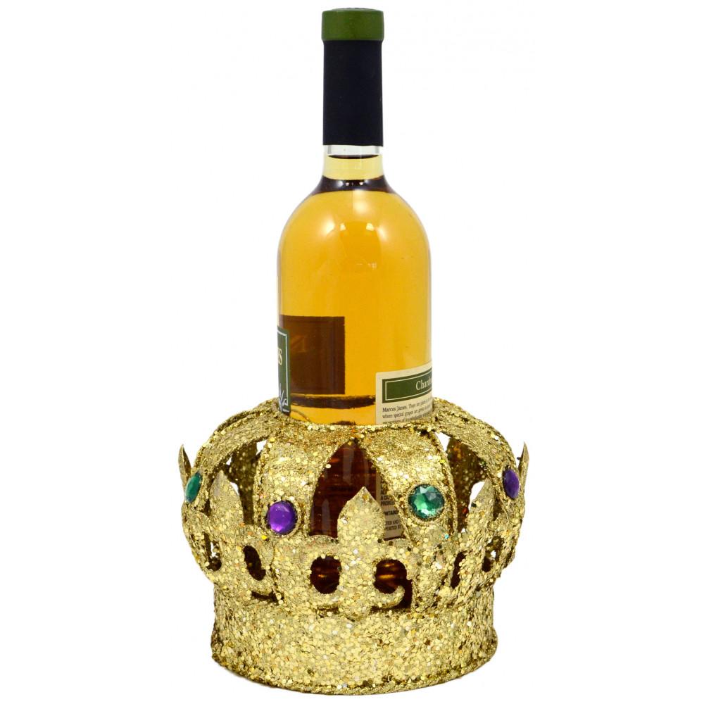 Crown Wine Bottle Holder [] - MardiGrasOutlet.com