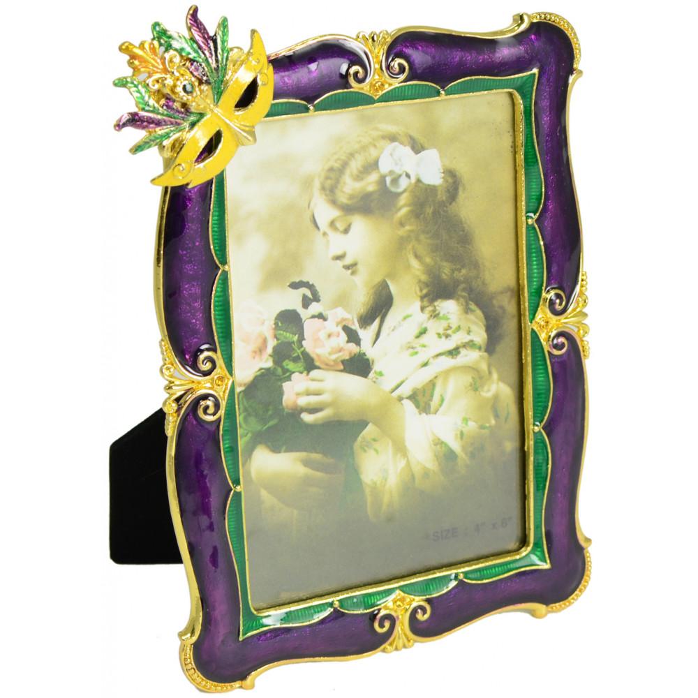 Mardi gras mask enamel photo frame 4 x 6 mardigrasoutlet mardi gras mask enamel photo frame 4 x 6 jeuxipadfo Choice Image