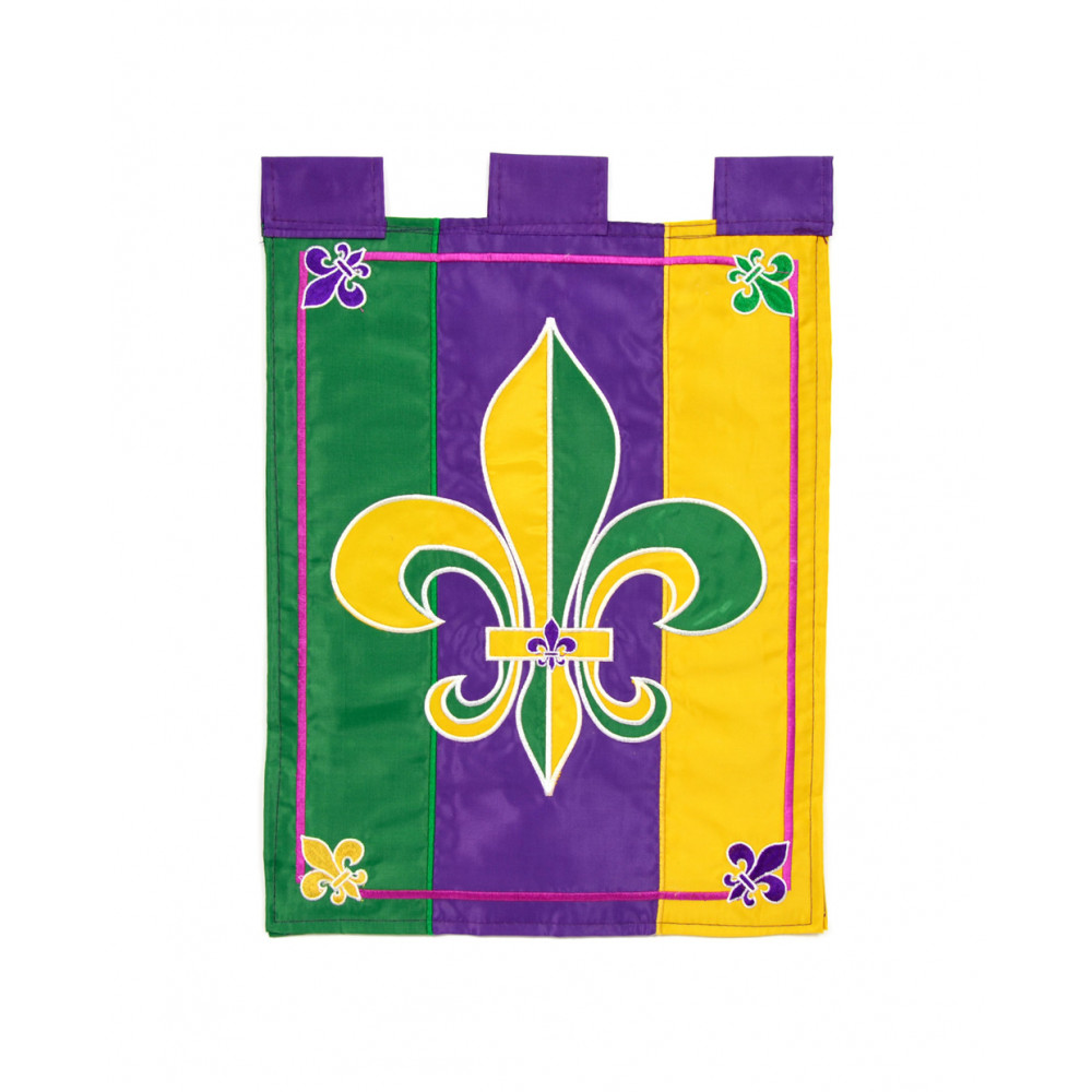 Mardi Gras Fleur De Lis Garden Flag