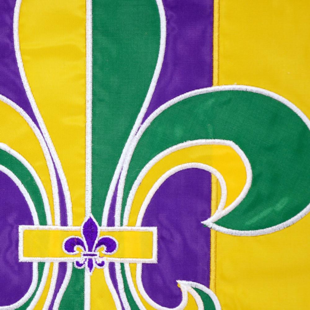 Good Mardi Gras Fleur De Lis Garden Flag