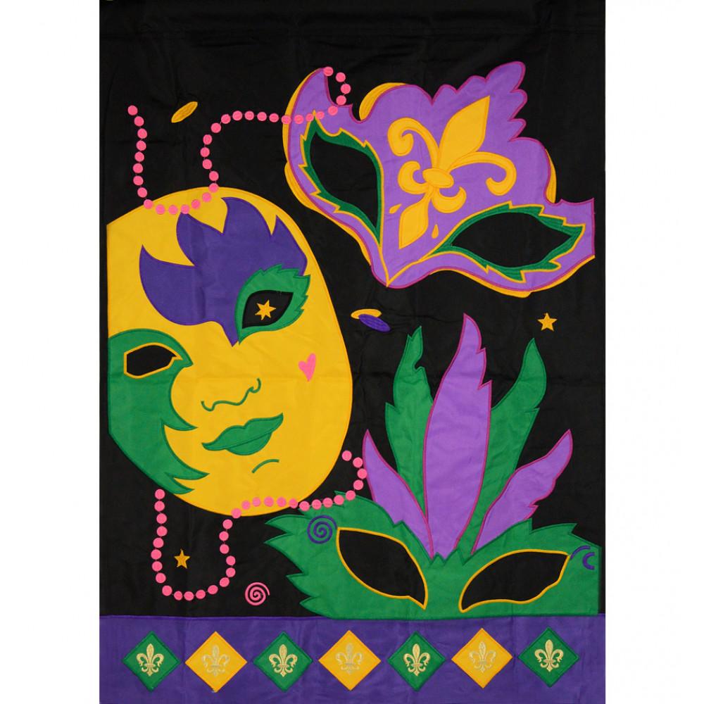 Masks For Mardi Gras Garden Flag [01387]