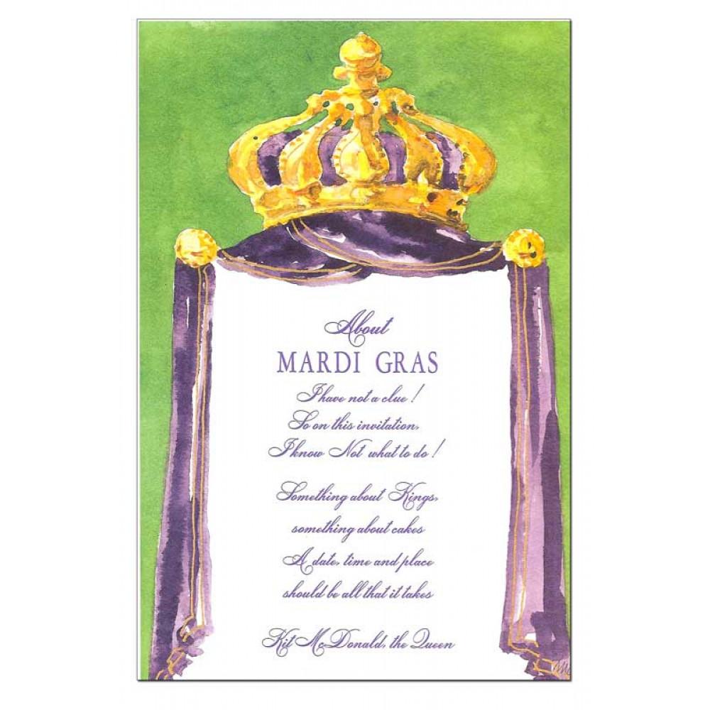 Rex King Crown Invitation Mardigrasoutlet Com