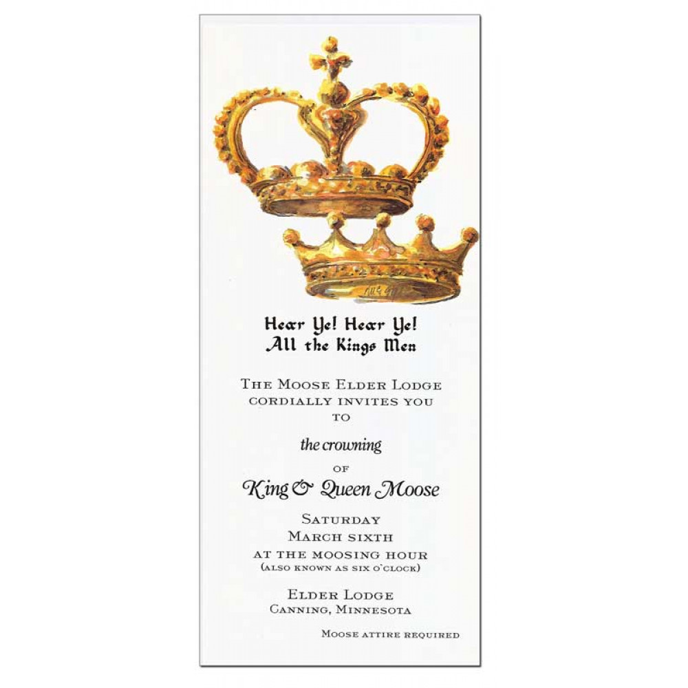 King And Queen Crown Invitation Mardigrasoutletcom