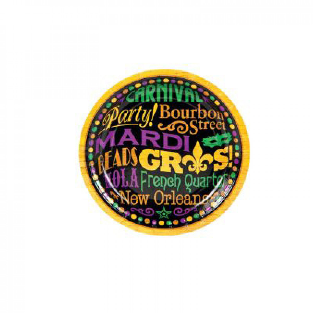 Mardi Gras Carnival 7  Paper Plates (8)  sc 1 st  Mardi Gras Outlet & Mardi Gras Carnival 7