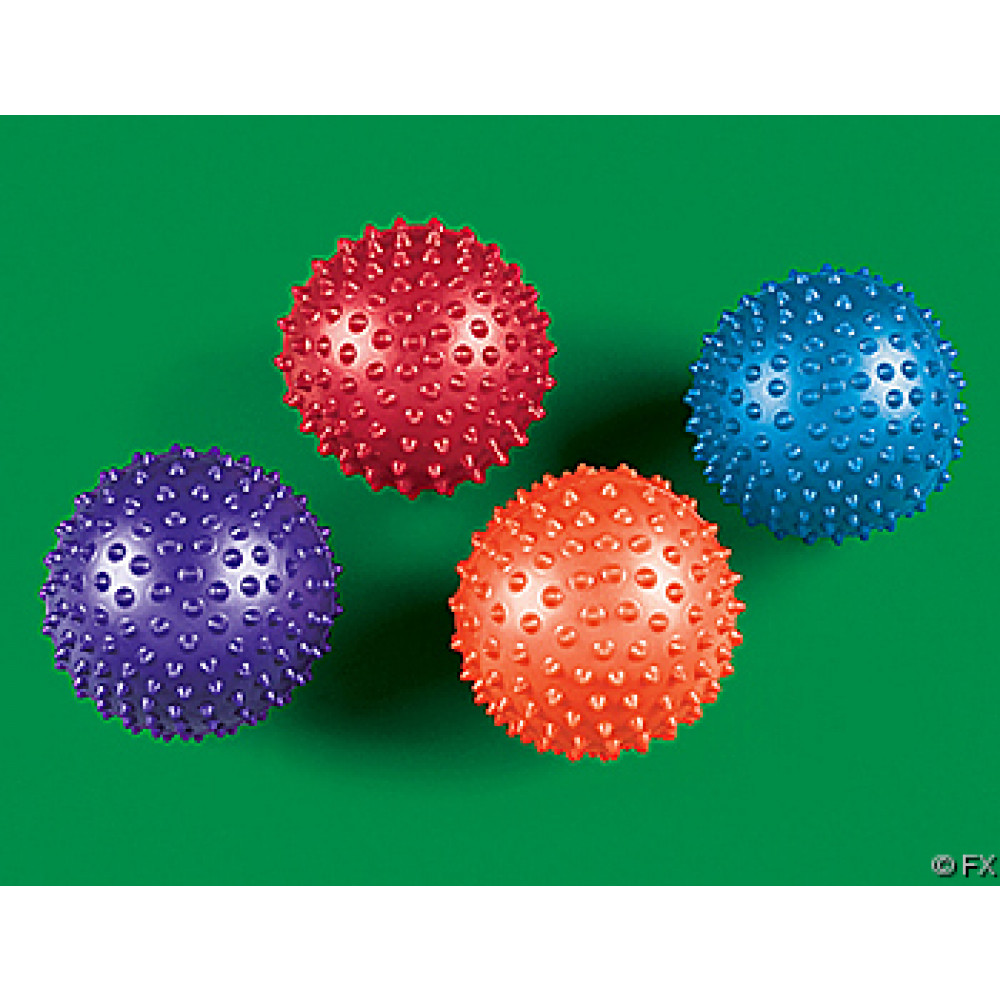 Squishy Ball With Spikes : Assorted Soft Spike Balls (12) [85-370] - MardiGrasOutlet.com