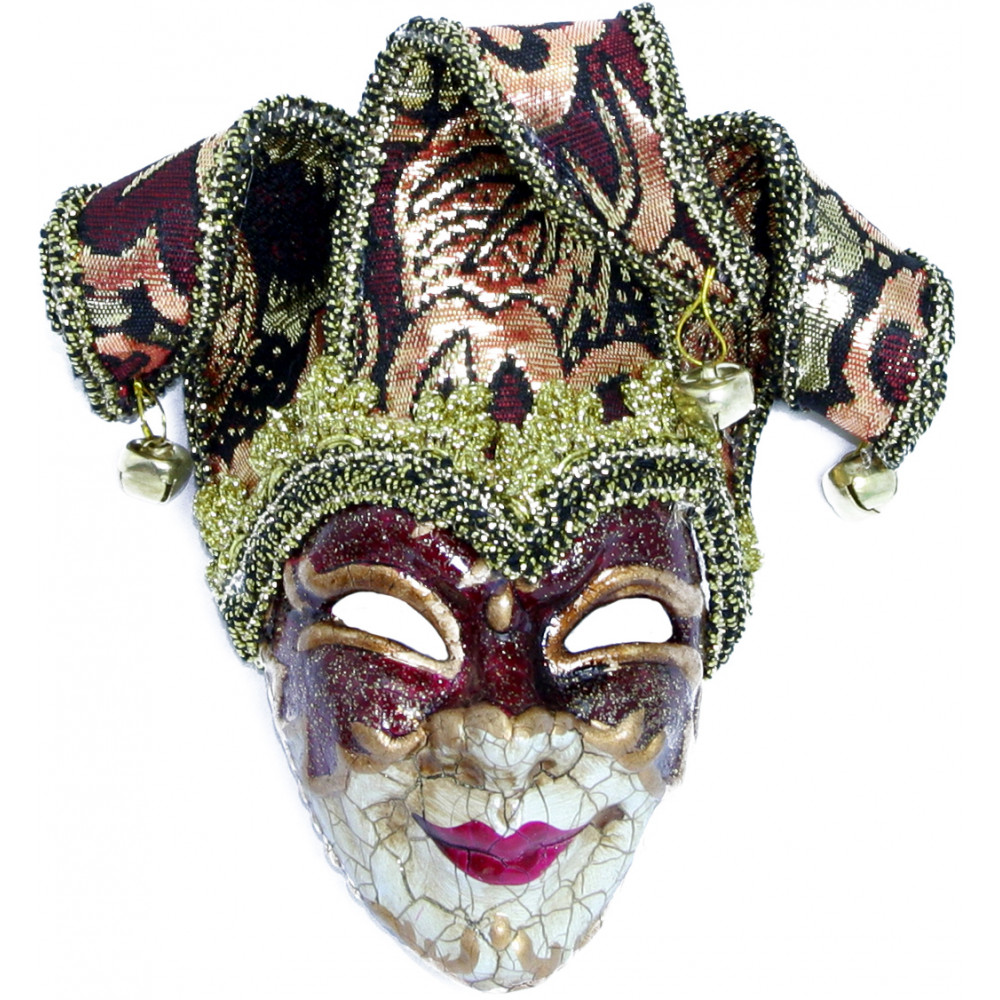 Antique jester mask ornament red mardigrasoutlet antique jester mask ornament red arubaitofo Choice Image