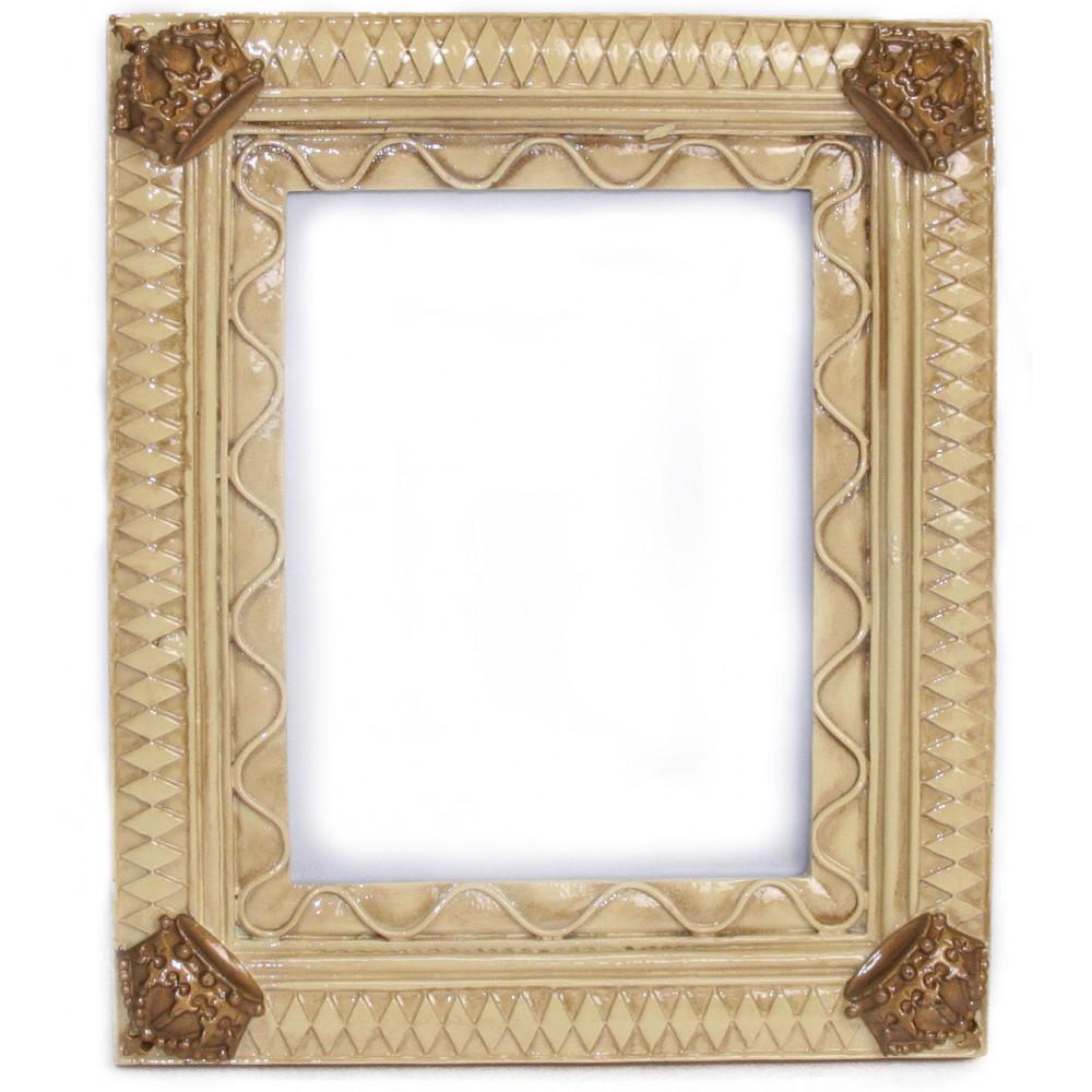 Photo frames mardigrasoutlet harlequin crown frame ivory jeuxipadfo Images