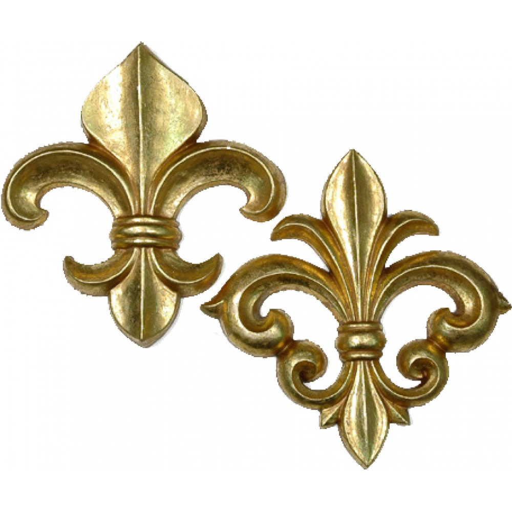 Deluxe Fleur De Lis Wall Decorations (2)