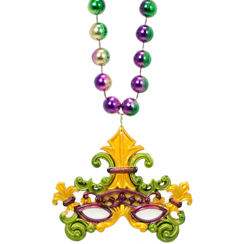 baroque fleur de lis mask necklace mardigrasoutlet com