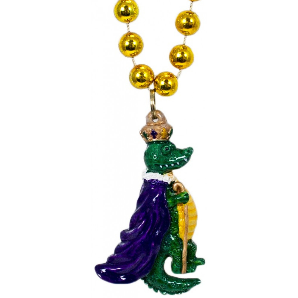mardi gras beads party supples whole to the public king alligator necklace