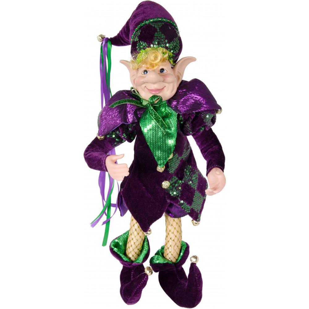 24 Standing Huge Christmas Holiday Jester Elf Mardi Gras Doll Home Decor